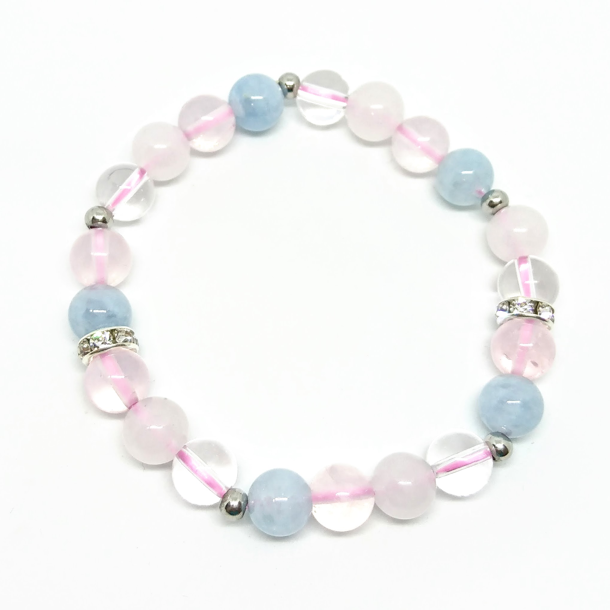 curated angeles aquamarine chain bracelet products multi stone los